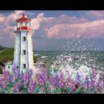"""Ткань с рисунком для вышивания бисером """"Романтичный маяк"""" """"МП Студия"""""""