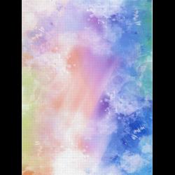 "Канва Аида 14 с фоновым рисунком КД14-111 21х30см ""МП Студия"""