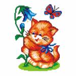 """Набор для вышивания """"Котенок с колокольчиком"""" """"МП Студия"""""""