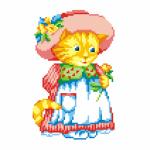 """Набор для вышивания """"Кошка в шляпке"""" """"МП Студия"""""""