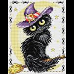 """Набор для вышивания """"Очарование чёрной кошки"""" """"МП Студия"""""""