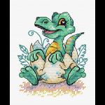 """Набор для вышивания """"Малыш динозавр"""" """"МП Студия"""""""