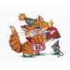 """Набор для вышивания """"Рыжий кот. День рождения"""" """"МП Студия"""""""