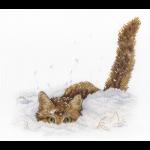 """Набор для вышивания """"Кот в снегу"""" """"МП Студия"""""""