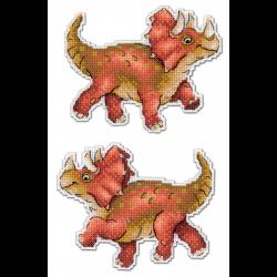 """Набор для вышивания """"Динозавры. Трицератопс"""" """"МП Студия"""""""