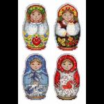 """Набор для вышивания """"Магниты. Русские матрёшки"""" """"МП Студия"""""""
