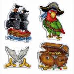"""Набор для вышивания """"Магниты. Под пиратскими парусами"""" """"МП Студия"""""""