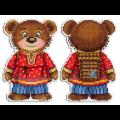 """Набор для вышивания """"Косолапый медведь"""" """"МП Студия"""""""