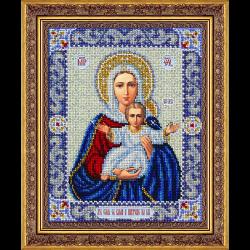 """Набор для вышивания бисером """"Пр. Богородица Леушинская"""" """"Паутинка"""""""