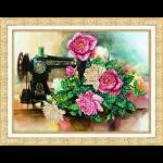 """Набор для вышивания бисером """"Розы для рукодельницы"""" """"Паутинка"""""""