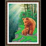 """Набор для вышивания бисером """"Медвежья семейка"""" """"Паутинка"""""""