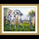 """Набор для вышивания бисером """"Пара белых лошадей"""" """"Паутинка"""""""