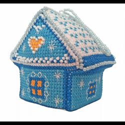"""Набор для вышивания Игрушки """"Зимний домик"""" """"Zengana"""""""