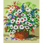"""Канва с рисунком для вышивания гобелена """"Букет полевых цветов"""" 40х50см """"Collection D'art"""""""