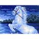 "Канва с рисунком для вышивания гобелена ""Гарцующий конь"" 40х50см ""Collection D'art"""