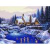 """Канва с рисунком для вышивания гобелена """"Зимний вечер"""" 40х50см """"Collection D'art"""""""