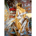 """Канва с рисунком для вышивания гобелена """"Нежность"""" 40х50см """"Grafitec"""" (Греция)"""
