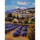 """Канва с рисунком для вышивания гобелена """"Тосканские поля"""" 40х50см """"Grafitec"""" (Греция)"""
