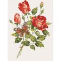 "Канва с рисунком для вышивания гобелена ""Роза"" 40х50см ""Collection D'art"""