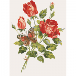 "Канва с рисунком для вышивания гобелена ""Роза"" 40х50см ""Grafitec"" (Греция)"