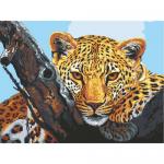 """Канва с рисунком для вышивания гобелена """"Взгляд леопарда"""" 40х50см """"Grafitec"""" (Греция)"""