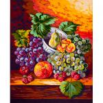 "Канва с рисунком для вышивания гобелена ""Виноград на столе"" 50х60см ""Grafitec"" (Греция)"