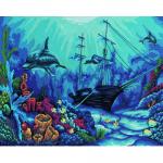 "Канва с рисунком для вышивания гобелена ""Затонувший фрегат"" 50х60см ""Grafitec"" (Греция)"