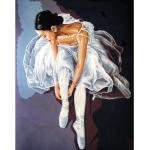 """Канва с рисунком для вышивания гобелена """"Балерина"""" 50х60см """"Collection D'art"""""""