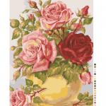"""Канва с рисунком для вышивания гобелена """"Нежные розы"""" 50х60см """"Grafitec"""" (Греция)"""