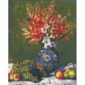 """Канва с рисунком для вышивания гобелена """"Натюрморт с виноградом"""" 50х60см """"Collection D'art"""""""