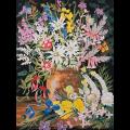 """Канва с рисунком для вышивания гобелена """"Дикие цветы 1"""" 50х60см """"Grafitec"""" (Греция)"""