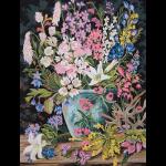 """Канва с рисунком для вышивания гобелена """"Дикие цветы 2"""" 50х60см """"Grafitec"""" (Греция)"""