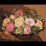 "Канва с рисунком для вышивания гобелена ""Чаша с розами"" 50х60см ""Grafitec"" (Греция)"