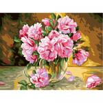 """Канва с рисунком для вышивания гобелена """"Розовые розы"""" 50х60см """"Grafitec"""" (Греция)"""