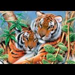 """Канва с рисунком для вышивания гобелена """"Нежные тигры"""" 60х80см """"Grafitec"""" (Греция)"""