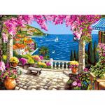 """Канва с рисунком для вышивания гобелена """"Ривьера мечты"""" 60х80см """"Grafitec"""" (Греция)"""
