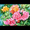 """Канва с рисунком для вышивания гобелена """"Блестящие розы"""" 60х80см """"Grafitec"""" (Греция)"""