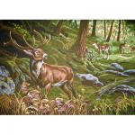 """Канва с рисунком для вышивания гобелена """"Олени в лесу"""" 60х80см """"Grafitec"""" (Греция)"""