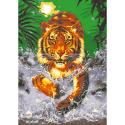 """Канва с рисунком для вышивания гобелена """"Тигр"""" 60х80см """"Collection D'art"""""""