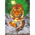 "Канва с рисунком для вышивания гобелена ""Тигр"" 60х80см ""Grafitec"" (Греция)"