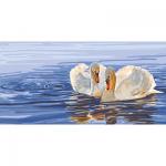 "Канва с рисунком для вышивания гобелена ""Два лебедя"" 60х110см ""Collection D'art"""