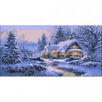 "Канва с рисунком для вышивания гобелена ""Сказочная зима"" 60х110см ""Grafitec"" (Греция)"