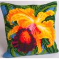 """Набор для вышивания Подушка """"Орхидея"""" 40х40см """"Collection D'art"""""""