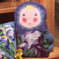 """Набор для вышивания Подушка фигурная """"Матрешка. Ирис"""" 40х40см """"Collection D'art"""""""
