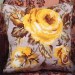"""Набор для вышивания Подушка """"Античная роза"""" 40х40см """"Collection D'art"""""""