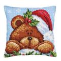 """Набор для вышивания Подушка """"Рождественский мишка"""" CdA-5240 40х40см """"Collection Dart"""""""
