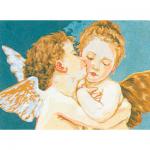 "Канва с рисунком для вышивания гобелена ""Ангелы"" 30х40см ""Collection D'art"""
