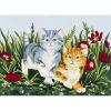 """Канва с рисунком для вышивания гобелена """"Веселые котята"""" 30х40см """"Grafitec"""" (Греция)"""