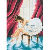 """Канва с рисунком для вышивания гобелена """"Балерина"""" 30х40см """"Collection D'art"""""""