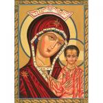 """Канва с рисунком для вышивания гобелена """"Пресвятая Богородица"""" 30х40см """"Grafitec"""" (Греция)"""